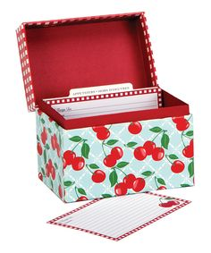 Look at this Kitchen Cherry Recipe File Box on #zulily today!