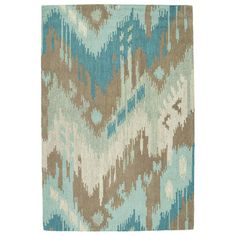 Anchor a bohemian seating group or define space in the entryway with this hand-tufted wool rug, featuring an eye-catching ikat motif....