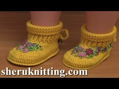 Crochet Baby Ugg Boots Video Tutorial 53 Demo Version - YouTube