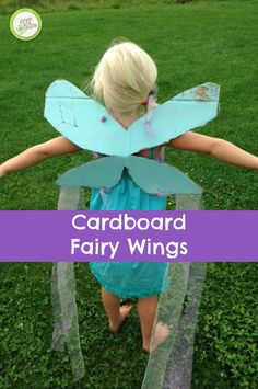 Making your own fairy wings is easy, no sewing required! http://www.greenkidcrafts.com/cardboard-fairy-wings/