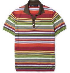 EtroStriped Fine-Knit Cotton Polo Shirt MR PORTER $510!!!!
