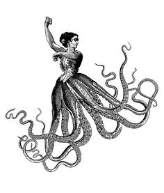 Animalia Exstinta is a fascinating imaginary bestiary featuring beautiful surrealist collages by Hugo Horita and . Octopus Art, Octopus Tattoos, Leg Tattoos, Tattoos For Guys, Octopus Legs, Surrealist Collage, Collage Art, Victorian Illustration, Illustration Art