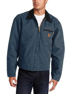 Carhartt Men's Sandstone Detroit Work Jacket Dark Blue Medium Carhartt http://www.amazon.com/dp/B008G7HCFU/ref=cm_sw_r_pi_dp_goucub00F9CEM