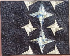 Winter Midnight Sky - Adapted from Ch. 7 of my co-authored book, You Can Quilt!  Eastern Star block.