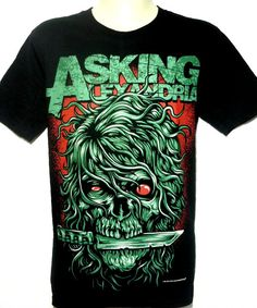Asking Alexandria Rock Band Music Heavy Metal Skull T Shirt Size M L Brand New With Tags