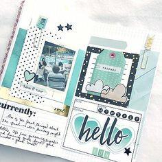 Hello Fun Traveler's Notebook Spread