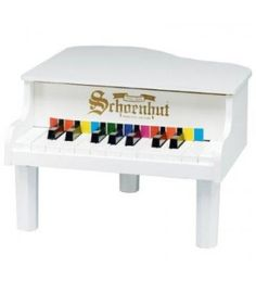 The Well Appointed House Schoenhut 18 Key Mini Grand Piano in White for Kids Grand And Toy, White Piano, Kids Piano, Baby Piano, Baby Grand Pianos, Baby Music, Kids Furniture, All Modern, The Help
