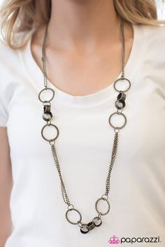 We've got a formula for fabulous: Fashion. Five bucks. Come see what the Paparazzi party is all about. Brass Necklace, Brass Jewelry, Jewlery, Paparazzi Accessories, Paparazzi Jewelry, Brass Chain, Pattern Fashion, Diva, Fashion Jewelry