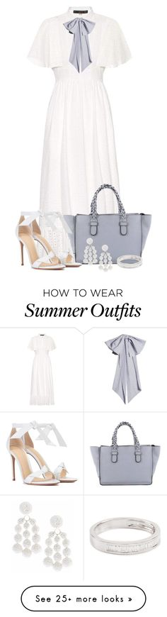 """Summer Outfit 8"" by larycao on Polyvore featuring AlexaChung, Valentino, Alexandre Birman, Sachin + Babi, EF Collection and Dovima Paris"