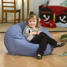 Have to have it. Small Denim Lounger Bean Bag Chair - $39.98 @hayneedle