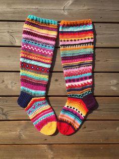 Wool Socks, Knitting Socks, Joko, Knit Crochet, Villa, Warm, Embroidery, Diy, Fashion
