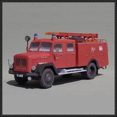 Classic Mondorf Fire Truck Free Vehicle Paper Model Download