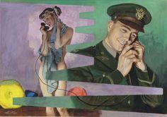 The Colonel's Wife Cosmopolitan magazine interior story illustration, June Alexander Ross Pulp Fiction Art, Cosmopolitan Magazine, Alex Ross, Commercial Art, Art Reference, Retro Fashion, Modern Art, Illustration Art, Amor