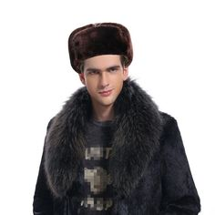 new Black Warm Winter Caps for Men Solid Color Russian Bomber Hats with Mask Thick Winter Hats for dad Fleece Russian Fur Hats Winter Cap For Man, Winter Caps, Russian Bombers, Fur Hats, Fashion Seasons, Mens Caps, Dads, Casual, Free Shipping