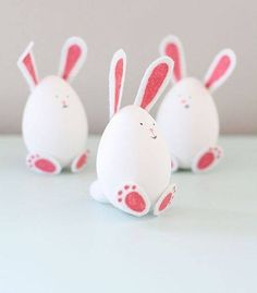 Painted Eggs - Rabbits