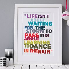'dance in the rain' print by hello monkey | notonthehighstreet.com
