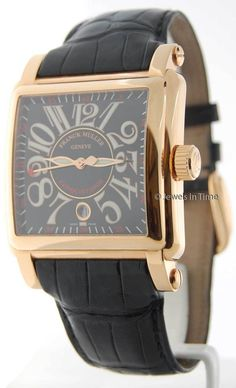 2c73b22fdbe Franck Muller 18K Rose Gold 10000 SC Cortez Conquistador Mens Watch Box  Papers