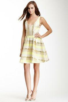 A.B.S. by Allen Schwartz V-Neck Printed A-Line Dress by A.B.S. on @HauteLook