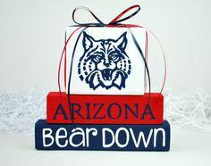 University of Arizona WoodenBlock Shelf Sitter Sports Stack