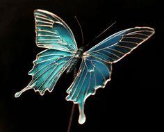 蝶のかんざし オオルリアゲハ