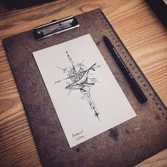 Search inspiration for a Geometric tattoo. Fox Cookies, Holiday Cocktails, Mini Tattoos, Cakes And More, Compass Tattoo, Tattoo Drawings, Tattoo Inspiration, Tatoos, Whale