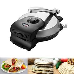 Tortilla Press 8 Electric Heavy Duty Tortilla Maker Flour Corn Manual