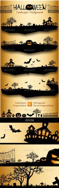 Halloween Landscapes / Backgrounds $4.00