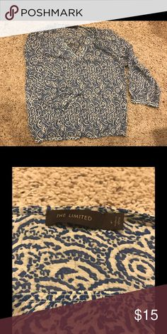 The limited Blouse The limited blue, 3/4 sleeve blouse The Limited Tops Blouses