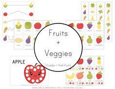 Fruits + Veggies Preschool Pack