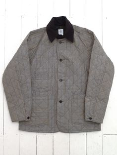 post overalls glen plaid Quilted carlos jacket