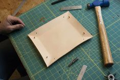 DIY Home Decor: How to Make a Leather Valet Tray Apartment Therapy Reader Project Tutorials Apartment Therapy Diy Leather Valet Tray, Diy Leather Gifts, Diy Leather Projects, Handmade Leather, Handmade Home Decor, Diy Home Decor, How To Make Leather, Leather Scraps, Leather Pattern