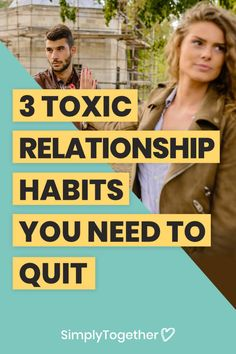 These 3 toxic relationship habits are very common among couples, yet they're extremely damaging. Find out how to replace them with the healthy alternatives. Toxic Relationships, Healthy Relationships, Relationship Advice, Signs Of Emotional Abuse, Healthy Alternatives, How To Get Rid, Social Media Tips, Letting Go, Lifestyle Blog