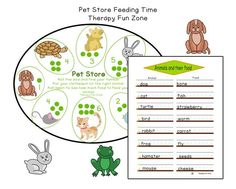 Pet Store Feeding the Pets - Therapy Fun Zone Pediatric Ot, Pet Store, Fine Motor Skills, Cool Kids, Your Pet, Finding Yourself, Activities, Pets, Fun