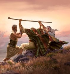 "Moses helped to keep his arms up. As Christians we are to ""lift up"" and encourage one another in the faith. Pictures Of Jesus Christ, Bible Pictures, Christian Paintings, Christian Art, Bible Art, Bible Scriptures, La Sainte Bible, Christian Pictures, Jesus Painting"
