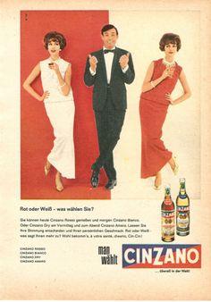 Werbung mit Stil  Cinzano Werbung von 1962