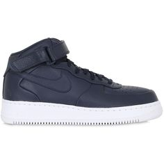 watch a5e57 76c3d Nike Men Nike Lab Air Force 1 Mid Top Sneakers (2,450 MXN) ❤ liked on  Polyvore featuring men s fashion, men s shoes, men s sneakers, navy, navy  blue mens ...