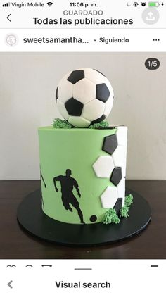 Chimmy's birthday – Backen – - Birthday Cake Football Birthday Cake, 10 Birthday Cake, Soccer Birthday Parties, Birthday Cake Decorating, Birthday Pins, 17th Birthday, Princess Birthday, Gateau Iga, Cakes For Teenagers