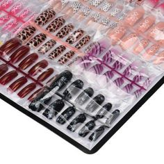 Just in! New Arrival Hot Sale 144pcs/lot 3D Mixed Nails Set Art Acrylic Manicure Gel Nails
