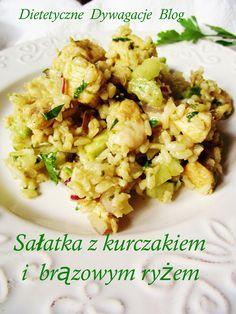 ***dietetyczne dywagacje*** : Sałatka z kurczakiem i brązowym ryżem