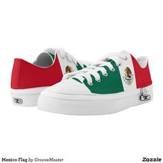 Mexico Flag Low-Top Sneakers Mexican Proud to be Mexicanos Pride