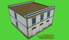 Paper model of a Galician Manor with Pediment in Lugo This is a two-storey building, with stone and white plaster façades, three gates on the main face and balconied windows in the other sides. Easy mounting for this house which adds a different model to your collection that will not go unnoticed in your model train or gaming lay out. As always, available in all common 6 scales.