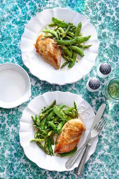 Skillet Chicken and Spring Vegetables