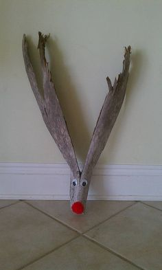 palm tree reindeer from palm fronds