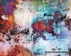 """""""Le meilleur des deux mondes"""" (Best of Both Worlds). Peinture numérique créée à partir de peintures originales en techniques mixtes. Février 2015. © 2015, Louise Lamirande. http://louiselamirande.com/entre-techniques-mixtes-et-numerique/  Digital painting created with my original mixed media paintings and pure digital effects. http://en.louiselamirande.com/project/le-meilleur-des-deux-mondes-best-of-both-worlds/"""