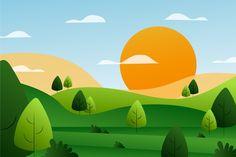 Discover thousands of free-copyright vectors on Freepik Background Clipart, Cartoon Background, Animation Background, Illustration Plate, Landscape Illustration, Digital Illustration, Spring Landscape, Fantasy Landscape, Design Plat