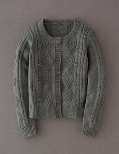 Casual Cable Cardigan: wish I lived in a cold place.