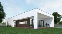 DOM.PL™ - Projekt domu NA A-11 CE - DOM NA1-02 - gotowy koszt budowy My House, Garage Doors, Shed, House Design, Outdoor Structures, Outdoor Decor, Home Decor, Houses, Modern House Facades