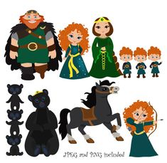 Courageous Princess Digital Clipart / Brave by SandyDigitalArt, $5.00