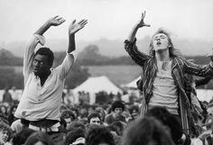 Ecstatic fans enjoy the music, Isle of Wight, September 1969