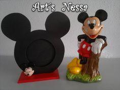 Porta retrato Mickey e Mickey gesso